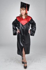 Cloak of the graduate of the master black with red