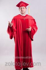 Academic cloak of professor red
