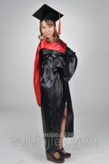 The master's cloak black with red hood