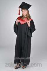 The master's cloak black with red collar