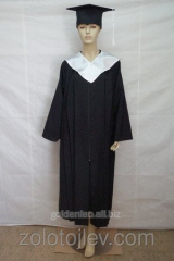Master's cloak black and white collar