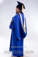 Academic cloak of professor blue