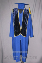 The academic cloak blue with scarf from velve