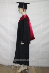 Cloak of the graduate of the master black with