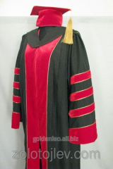 Professor's cloak with chevrons and hood