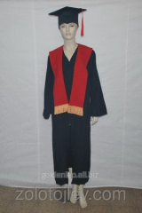 The academic cloak with red scarf