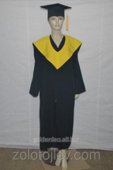 The academic cloak of the graduate with hood