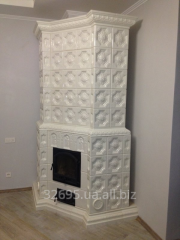 White furnace tiled (tile) angular