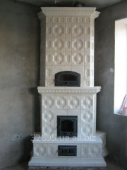 Furnace angular tiled (tile). Tiles ceramic for