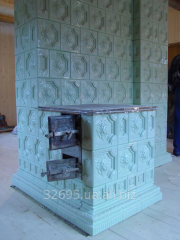 The furnace with a plate tiled (tile). Tiles