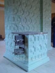 Печь с плитой кафельная (изразцовая). Изразцы