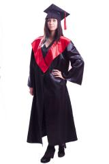 Hire of cloaks of graduates black with red