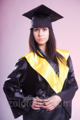 Hire of cloak of the graduate with yellow collar