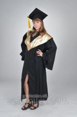 The graduate's cloak with gold collar hire
