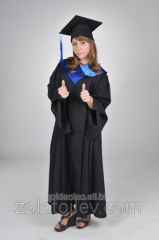 The graduate's cloak with blue collar for ren