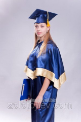 Graduate's cloak blue hire