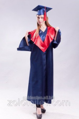 Hire of cloak of the graduate blue with red