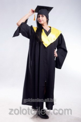 Hire of cloaks of graduates black with yellow