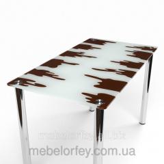 Стеклянный обеденный стол Шоколадный БЦ-Стол