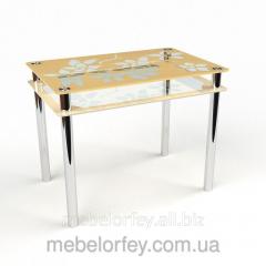 Стеклянный обеденный стол Цветы-рамка БЦ-Стол