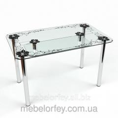 Стеклянный обеденный стол Скиф-2 БЦ-Стол