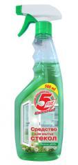 """""""5 Five""""- Средство для мытья стекол """"Весенние цветы"""""""