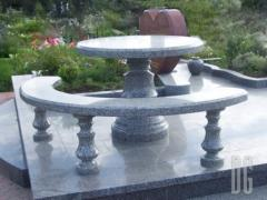 Гранитные столы и лавки