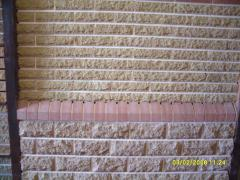 Brick facing with the invoice SOCLE a Bordeaux and