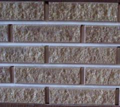 Brick facing with the invoice MARBLE WITH a