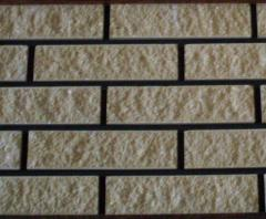 Brick MARBLE yellow, facing with the invoice