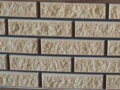 Brick peach, MARBLE WITH the FACET, facing with