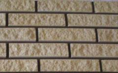 Brick facing with the invoice MARBLE an ivory