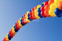 Украшение воздушными шарами,шары с гелием,гелиевые