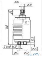 Vacuum KDVN-10-5/400 UHL2 arc extinguish chamber