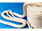 The rope is hempen. The rope is polyamide. The