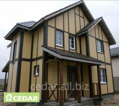 Facades of frame houses