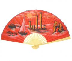 Веер красный крымский средний. Материал:Дерево,