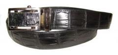 Ремень из кожи крокодила (N105 ALB Belly Black)