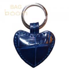Брелок для ключей из кожи крокодила (KAMC 76 Blue)