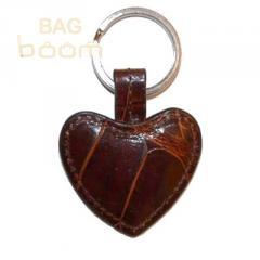 Брелок для ключей из кожи крокодила (KAMC 76 Cognac)