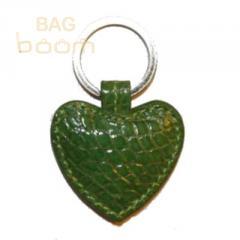 Брелок для ключей из кожи крокодила (KAMC 76 Green)