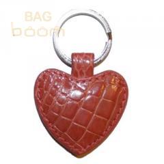 Брелок для ключей из кожи крокодила (KAMC 76 Pink)