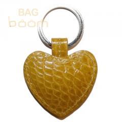 Брелок для ключей из кожи крокодила (KAMC 76 Yellow)