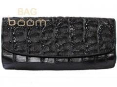Сумка женская из кожи крокодила (CBM 18 T Black)