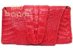 Сумка женская из кожи крокодила (FCM 320 Fire red)