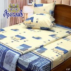 Комплект постельного белья бязь набивная ТМ Ярослав, t57, евро+ (220х240 см)
