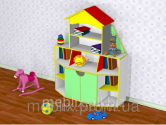 Children's furniture. Wall for toys in the