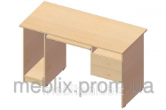 Computer table with shelf under the system unit