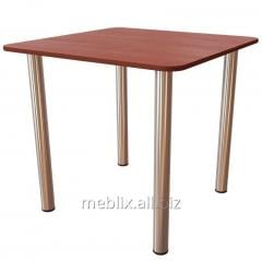 Dining Table on the chromeplated legs 800*800*750h