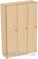 Шкаф для раздевалки детский трехсекционный 920*250*1250h